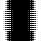 Вертикальная картина с точками - Monochrome textu полутонового изображения полутонового изображения Стоковые Изображения