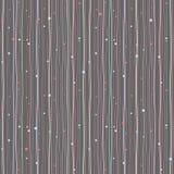 Вертикальная предпосылка Волнистые линии и круги картина безшовная Стоковое фото RF