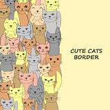Вертикальное знамя котов с местом для текста Стоковое фото RF
