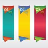 Вертикальное знамя. Стоковое Фото