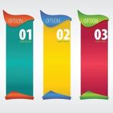 Вертикальное знамя. Стоковое Изображение