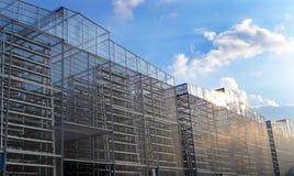Вертикальное сельскохозяйственное производство, большой диапазон Стоковое фото RF