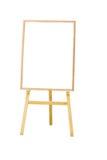 Вертикальное фото доски меню белой изолированной на белой предпосылке, Стоковое Изображение RF