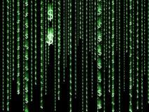 Вертикально moving зеленые знаки доллара 064 Стоковое Изображение