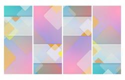 Вертикальные абстрактные установленные шаблоны бесплатная иллюстрация
