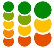 Вертикальные диаграмма, элементы диаграммы, шаблоны с кругом 5, 4 и 3 иллюстрация вектора