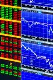 Вертикальные диаграммы и комплект экономических данных Стоковое Фото
