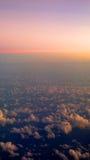 Вертикальный ландшафт над облаками Стоковое Изображение RF