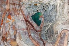 Вертикальный взгляд минирования открытого карьера Стоковое Изображение