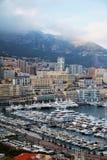 Вертикальный городской пейзаж Монако Стоковые Фото
