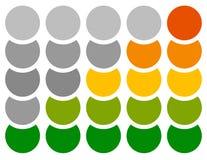 Вертикальный прогресс, шаг, индикаторы участка с 5 шагами бесплатная иллюстрация