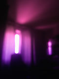 Вертикальный розовый луч предпосылки bokeh окна света Стоковая Фотография RF