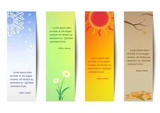 Вертикальный сезон закладки Стоковые Фото