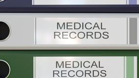 Вертикальный стог multicolor связывателей офиса с медицинскими историями маркирует иллюстрация штока