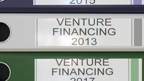Вертикальный стог multicolor связывателей офиса с финансированием рискованого начинания маркирует различные леты бесплатная иллюстрация