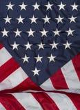 Вертикальный флаг задрапированный вперед Стоковое Изображение RF