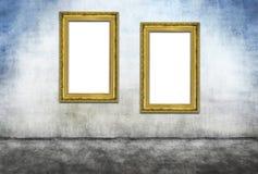 2 вертикальных золотых рамки Стоковое Изображение