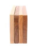 4 вертикальных доски (вяз, акация, известка, дуб) Стоковое Фото