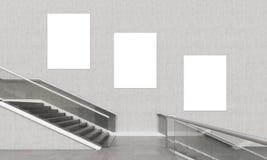 3 вертикальных плакаты и лестницы иллюстрация штока