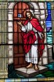 Вертикаль витража Иисуса Христоса Стоковая Фотография