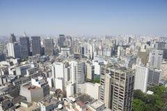 Вертикаль горизонта городского пейзажа Сан-Паулу Бразилии Стоковые Изображения RF