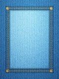 Вертикаль рамки джинсовой ткани Стоковое Фото