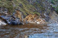 вертикаль реки панорамы горы 3 изображений hdr Стоковые Изображения RF