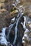 вертикаль реки панорамы горы 3 изображений hdr Стоковое Изображение