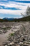вертикаль реки панорамы горы 3 изображений hdr Стоковое Изображение RF