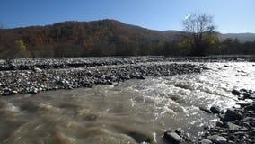 вертикаль реки панорамы горы 3 изображений hdr видеоматериал