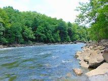 вертикаль реки панорамы горы 3 изображений hdr Стоковые Фотографии RF