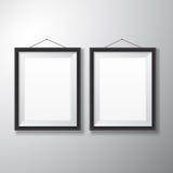 Вертикаль черноты картинных рамок Стоковое Фото