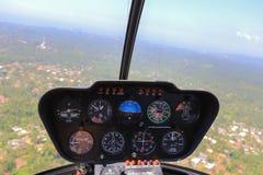 Вертолет внутри взгляда Стоковое Фото