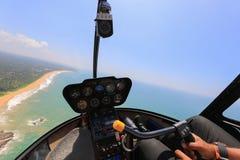 Вертолет внутри взгляда Стоковые Изображения