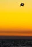 вертолет над водой Стоковая Фотография RF