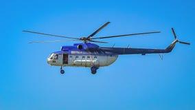 вертолет на выставке Бухареста воздухоплавательной стоковое фото rf