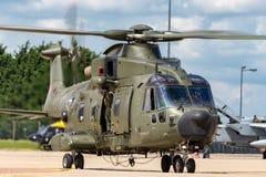 Вертолет общего назначения подъема RAF AgustaWestland Мерлина HC3 EH-101 ZK001 военно-воздушных сил Великобритании средств Стоковые Изображения