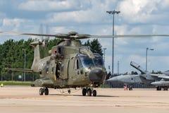 Вертолет общего назначения подъема RAF AgustaWestland Мерлина HC3 EH-101 ZK001 военно-воздушных сил Великобритании средств Стоковые Фото