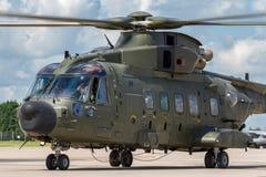 Вертолет общего назначения подъема RAF AgustaWestland Мерлина HC3 EH-101 ZK001 военно-воздушных сил Великобритании средств Стоковое Изображение