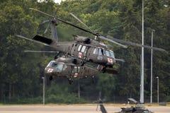 Вертолет перехода Sikorsky UH-60 Blackhawk армии Соединенных Штатов Стоковая Фотография RF