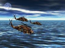 вертолет хоука армии черный Стоковое Фото