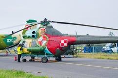 Вертолет Mi-2 на Радоме Airshow, Польше стоковые фотографии rf
