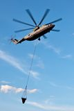 Вертолет Mi-26T пожарного Стоковое Изображение