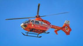 Вертолет Smurd на выставке Бухареста воздухоплавательной стоковая фотография rf