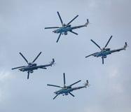 Вертолеты войны в небе Стоковая Фотография RF