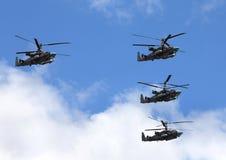 Вертолет боя в полете Стоковое фото RF