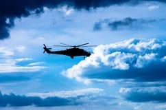 Вертолет боя Mi-24 Стоковое фото RF
