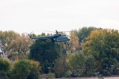 Вертолет во время военного парада Стоковое Фото