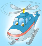 Вертолет летает в небо Стоковое фото RF