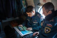 Вертолет министерства аварийных ситуаций экипажа Стоковое Изображение RF